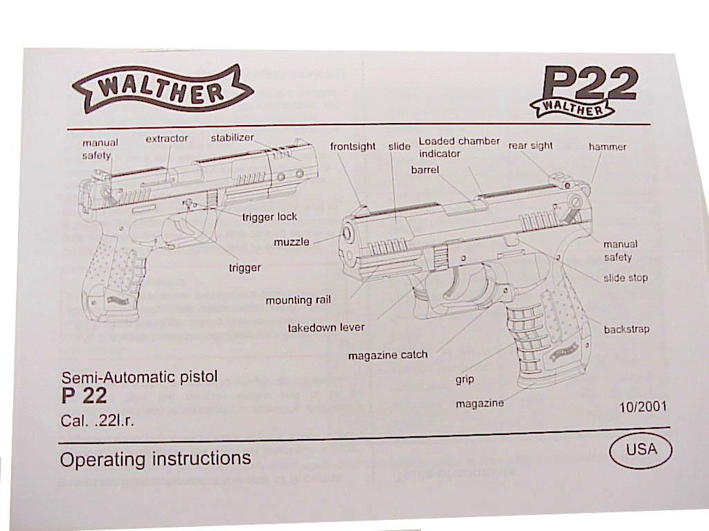 Manual de instrucciones de la pistola walther g comprar.